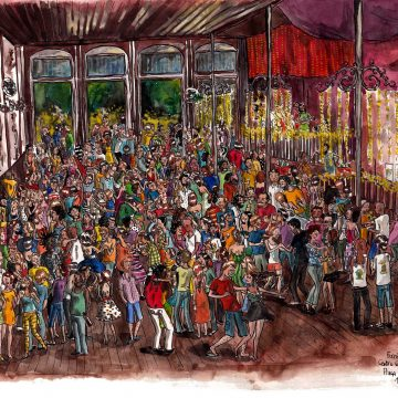 A forró party in Lapa, Rio de Janeiro. Courtesy of and copyright by the illustrious Johanna Thomé de Souza.