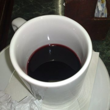 Wine, as egregiously served to Tipsy Pilgrim in a boteco (dive bar) in Rio.
