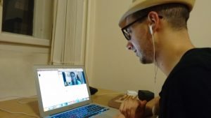 A Skype lesson, organized through Italki, with my copy of Teach Yourself Serbian close at hand.