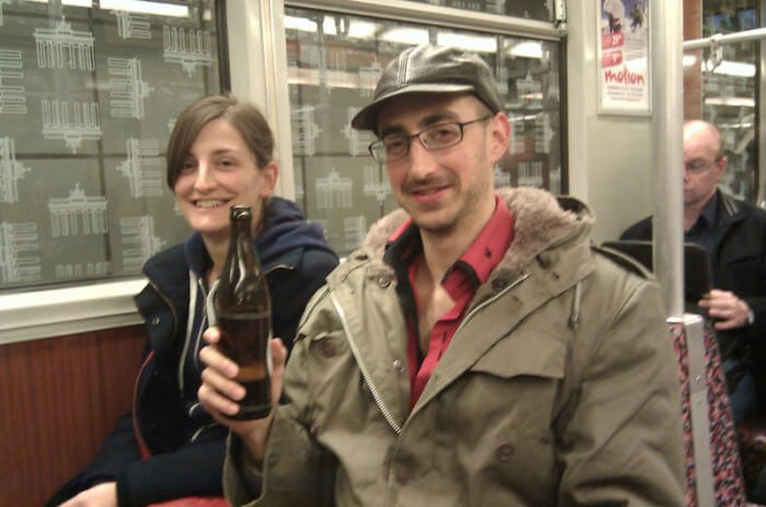 A Tipsy Pilgrim investigation of Berlin's U-Bahn. The nice young lady offered me a beer and told me that the mustache is disgustingly fashionable in Germany, as is the leather cap, but that no, I would not become a gay icon.