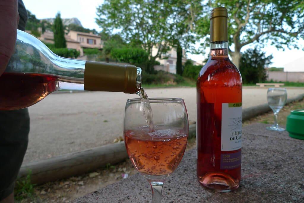 rosé and pétanque