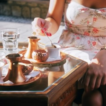 A lovely Bosnian coffee setup and torso. Photo in Sarajevo by Film Fledgling.